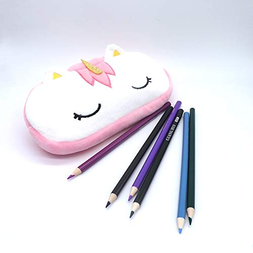 24x7 eMall Kids Favorite Pink Unicorn Pencil Pouch Soft Toys Pencil Box for Children (Multicolour)