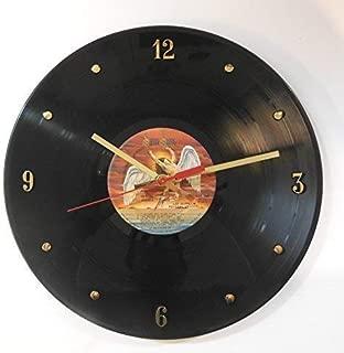 Led Zeppelin Vinyl Record Clock (Physical Graffiti). Handmade 12