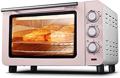 Mini horno eléctrico 15L Control de temperatura 100-230 ℃ y 60 minutos Tiempo 3 Métodos de calefacción Multifuncional para el hogar Cake
