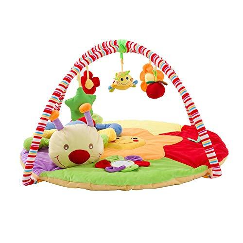 foyar Baby Spieldecke, Kinder Fitness Rack Baby Spielzeug, Super Soft Baby Fitness Rack Babyspieldecke Spielmatte, Krabbeldecke Puzzle Spielzeug Mit Raupe Puppe