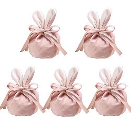 Bolsas de Caramelo de Pascua Velvet Pascua Bunny Huevo Bolsa de Huevo Velvet Bolsa de Bocadillo Partido Bolsa de envasado Pascua Bolso de Regalo de Dibujos Animados