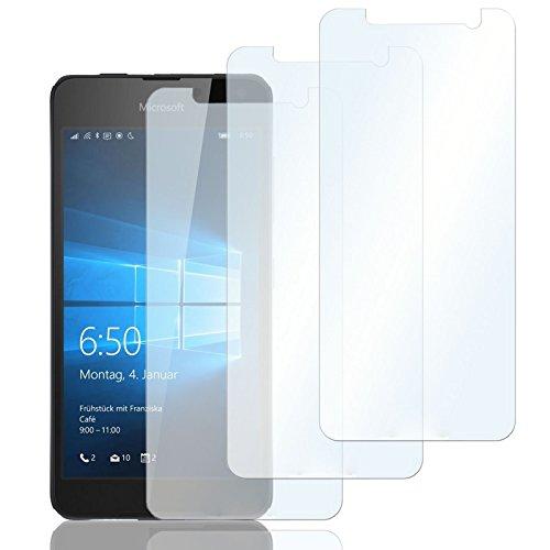 Eximmobile 3X Schutzfolien für Microsoft Lumia 435 | Bildschirmschutz Folie | Bildschirmfolie