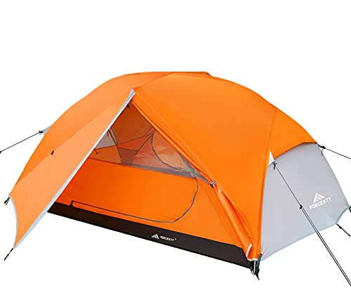 Forceatt Tent for 2 Person is Waterproof and Windproof, Camping Tent for 3 to 4 Seasons, Lightweight Aluminum Pole Backpacking Tent Can be Set Up Quickly, Great for Hiking,Camping and Backpacking.
