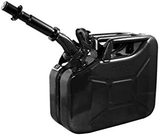 Wavian USA JC0010BVS Authentic NATO Jerry Fuel Can and Spout System Black (10 Litre)