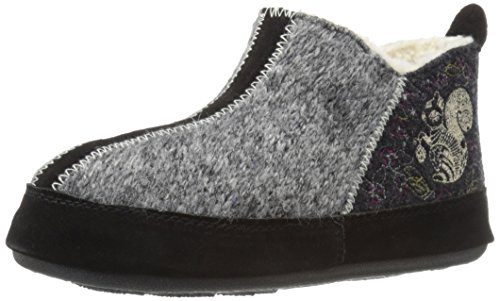 ACORN Women's Forest Bootie Slipper, Grey Squirrel, Small (5-6)