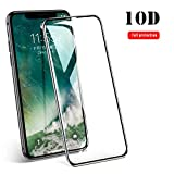 Protector De Pantalla,New 10D Full Protection Curved Clear Tempered Glass For iPhone X XS MAX XR Cover Screen Protector For iPhone 7 8 6 6S Plus Glass for iPhone XS MAX White