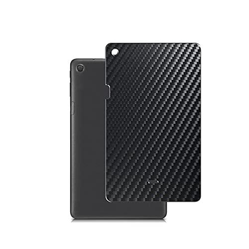 VacFun 2 Piezas Protector de pantalla Posterior, compatible con Alcatel PIXI 3 PIXI3 10.1', Película de Trasera de Fibra de carbono negra Skin Piel