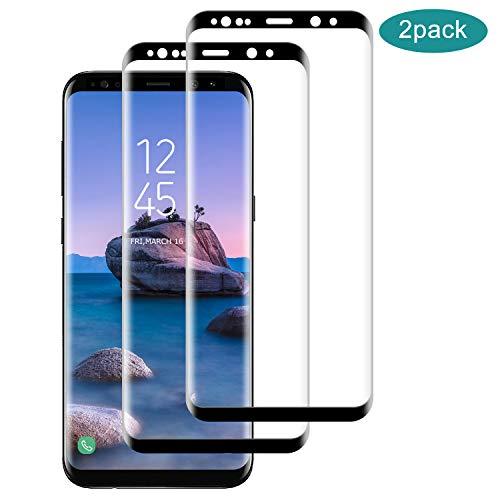SNUNGPHIR® Cristal Templado para Samsung Galaxy S8 Plus [2 Pack] [Cubierta Completa] [Alta Definición] Protector Pantalla de Vidrio Templado para Samsung Galaxy S8 Plus, 3D Touch Anti-Arañazos