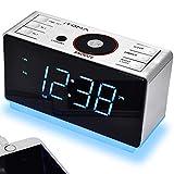 iTOMA Alarm Clock Radio with Bluetooth Wireless Speakers, Digital FM Radio, Dual Alarm