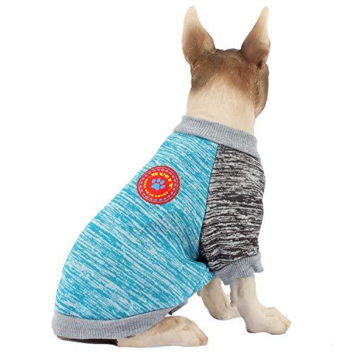 HAPEE Hundepullover für kleine und mittelgroße Hunde, mit Emblem, warme Kleidung, für Welpen, Katzen und Hunde im Winter