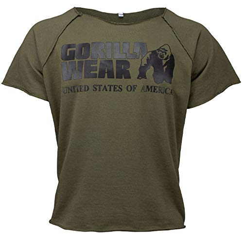GORILLA WEAR Classic Work Out Top für Bodybuilder - Strongman und Fitness Army Green L/XL