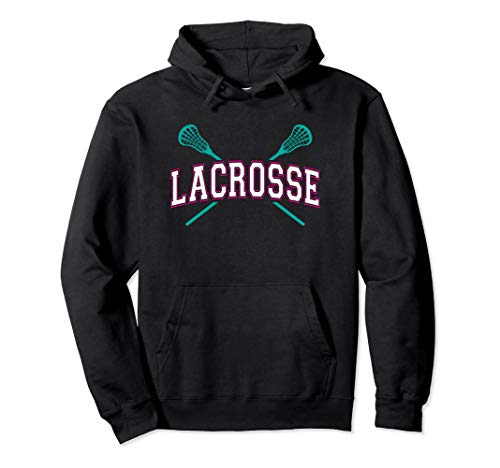 Winterball Lacrosse Hoodies for Girls Teal Sticks Pink White