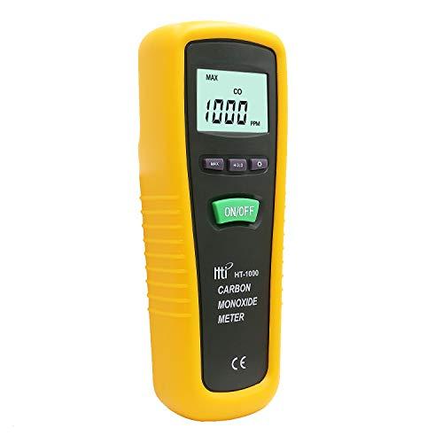 Hti-Xintai - Kohlenmonoxid Messgerät, Tragbares Detektions- und Überwachungsgerät zur hochpräzisen Prüfung von CO-Gas, Messgerät mit Sonde, Messbereich 0-1000ppm