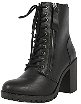 Soda Women s Malia Combat Boot  Black numeric_7_point_5