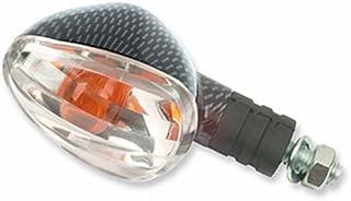 Preisvergleich für 1 Paar Set Blinker UNIVERSAL Motorrad P F H Kurzarm Karbon transparent preisvergleich