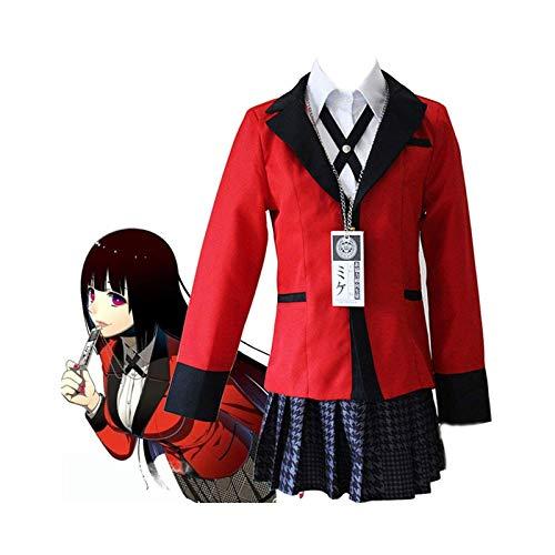 Anime Kakegurui Disfraz de Cosplay de Jugador Compulsivo, Jabami Yumeko Yomoduki Runa Uniforme Escolar Japons Vestido Elegante Conjunto Completo para Mujeres Nias