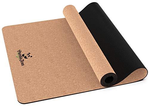 PandaTom© Premium Yogamatte aus hochwertigem Kork & Naturkautschuk – Rutschfest & Kompakt | 100% Schadstofffreie & Nachhaltige Matte für Sport,...