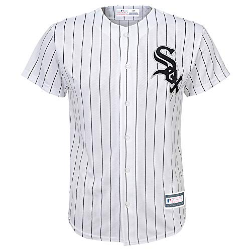 Outerstuff MLB 8-20 Youth Blank Cool Base Home Color Team Jersey (X-Large 18/20, Chicago White Sox)