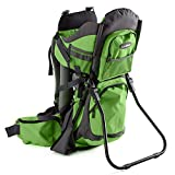Luvdbaby Premium Baby Backpack Carrier for Hiking with Kids – Carry Your Child Ergonomically (Green/Grey)…