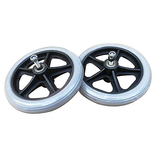 Rollstuhl Reifen 17 Cm Universalrad-Ersatzteile, Rollstuhlersatz-Nachlauf Für Rollator-Gehhilfen (2er-Pack)