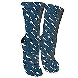wonzhrui Esperma de natación en calcetines azul marino Calcetines elegantes novedosos adecuados para correr deportes senderismo