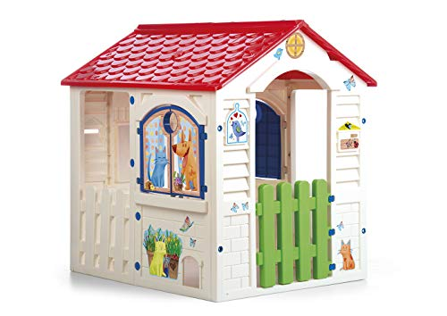 Chicos - Country Cottage Casita Infantil de Exterior, Color Beige con tejado...