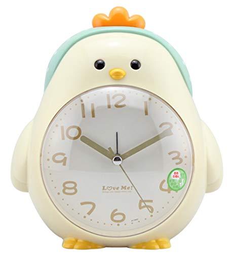 Turban Huhn Wecker Doppelter Ton Stumm Karikatur Alarm Clock Kind Schlafzimmer Nachtlicht Wecker, Beige