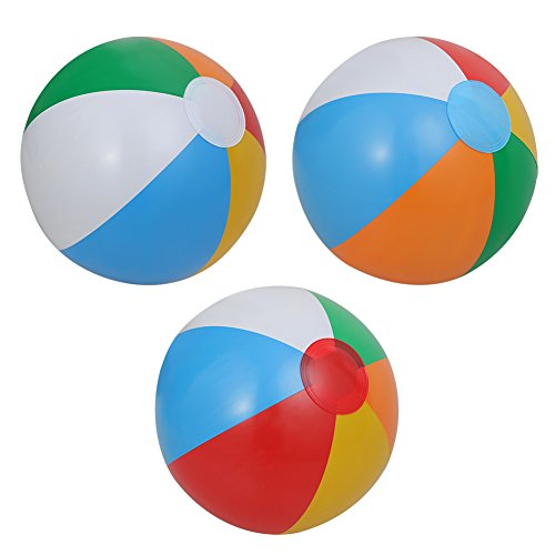 """Inflatable Beach Balls[12PACK] 10"""" Rainbow Beach Balls Pool Party Balls Bulk Beach Balls Rainbow Colored Beach Toys Perfect for Beach Sand Pool Party Favors Swimming Water Toys for Kids."""