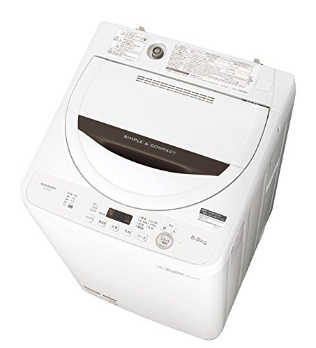 『シャープ 全自動洗濯機 ステンレス槽 5.5kg ホワイト系 ES-GA5B-W』のトップ画像