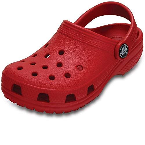 Crocs Classic Clog K, Zuecos Unisex Niños, Rojo (Pepper), 3