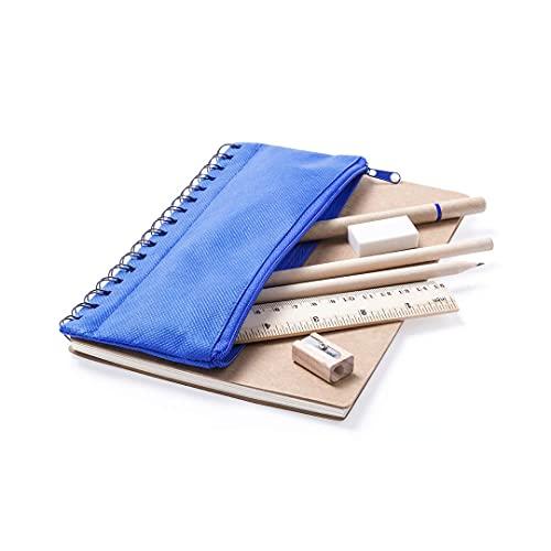 Multipack de UniQs Store pack 3 unidades libreta + estuche ecológico para niños - 3 colores 1 Ud
