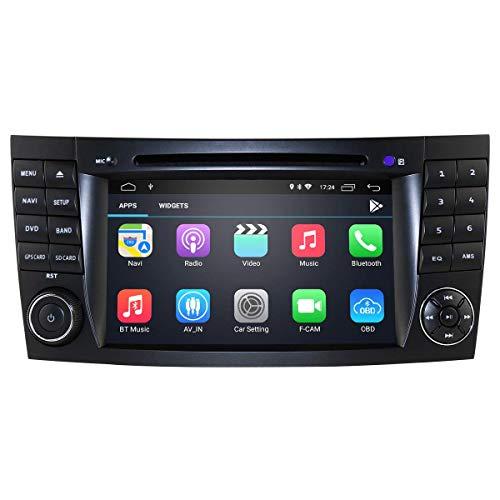 Reproductor de audio para automóvil Android 10 con pantalla táctil de 7 pulgadas para Mercedes-BENZ E-W211 (2002-2009) / G-W463 (2001-2008) / CLK-W209 (2005-2006) / CLS-W219 (2001-2011) Soporte Radi