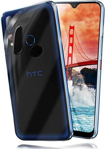 MoEx® Ultra-Clear Hülle [Vollständig Transparent] passend für HTC Desire 19+ | rutschfest & extrem dünn - Fast unsichtbar, Klar