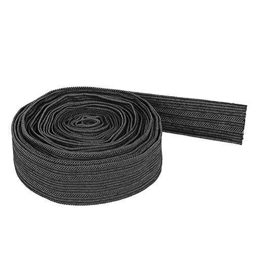 Funda protectora de manguera Protector de mangas de cable de nylon de 7.5 m/25 pies para manguera hidráulica de antorcha de soldadura, negro