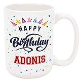 Happy Birthday Adonis Coffee Mug