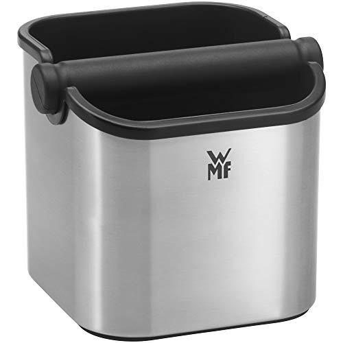 WMF Lumero Abschlagsbehälter mit Abklopfstange, Zubehör für Siebträger Espressomaschine, spülmaschinengeeignet, edelstahl matt
