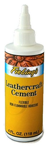 Fiebing's Leathercraft Cement, 4 oz - High Strength Bond for Leather Projects...