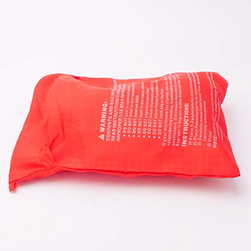 2 Pack CCCSEE Potato Express Microwave Potato Bag Red,Washable and Reusable,Pouch Cooking in Just 4 Minutes Cooker Bag