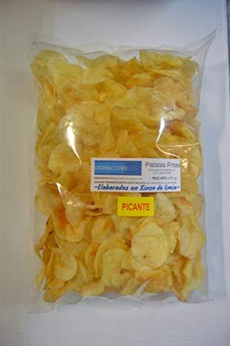 Patata Frita Picante Gallega Xinzo Bolsa de 450Gr. (Pack de 2 Bolsas).