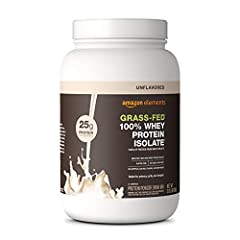 Made with100% non-GMO whey protein isolate from grass-fed cows 25G protein per serving; 31 servings per container No added sugars. No artificial colors or flavors Soy free, gluten free, no added rBGH/rBST Satisfaction Guarantee: We're proud of our pr...