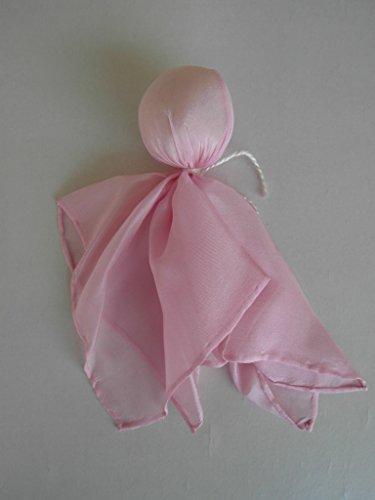 Rosa Seidenpüppchen Träumerle, Köpfchen mit Biowolle gefüllt