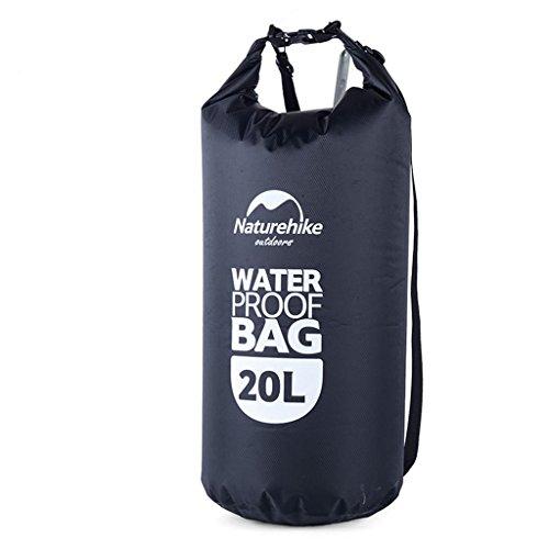 TRRE Voyage en plein air sacs étanches sac dérivantes snorkeling plage natation sac, 5L / 20L / 60L ( Couleur : Noir , taille : 20L )