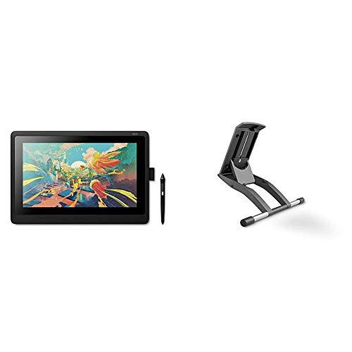 Wacom Cintiq 16 Display Interattivo e Penna Pen PRO 2 - Tavoletta Grafica con Schermo LCD 16  per Disegno Digitale Full HD, Compatibile con Windows & OS X, Nero + Supporto Regolabile