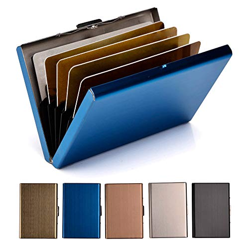 RFID Credit Card Holder Metal Wallet Stainless Steel Credit Card Protector Case for Men or Women