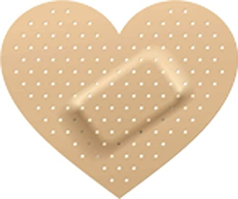 Heart Shaped Bandage Wound Nude Brown White Vinyl Decal Sticker Two In One Pack 4 Inches Wide Arts Crafts Sewing