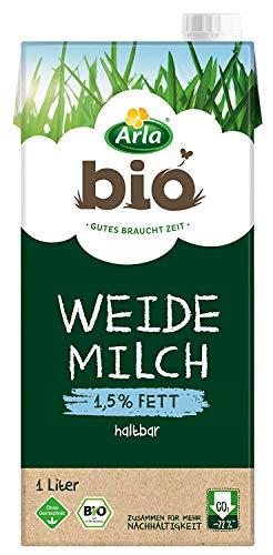 Arla BIO Haltbare Weidemilch 1.5% Fett, Bio H-Milch aus artgerechter Tierhaltung, 12x1 l