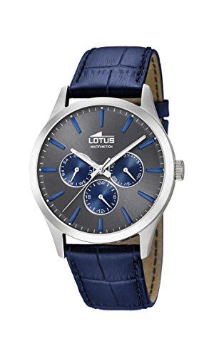 Lotus Watches Reloj Multiesfera para Hombre de Cuarzo con Correa en Cuero 18576 3