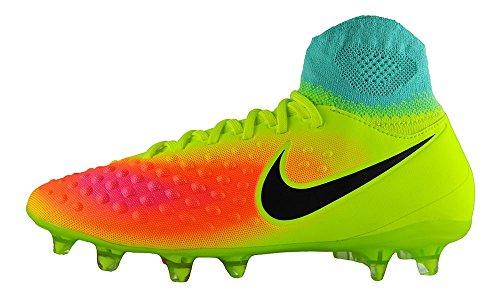 Nike Unisex-Erwachsene JR Magista OBRA II FG Fußballschuhe, Amarillo (Volt/Black-Total Orange-Pink Blast), 38 EU