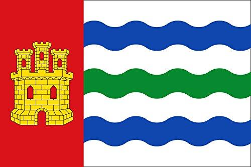 magFlags Bandera Large Salinas del Manzano, Cuenca, España | Bandera Paisaje | 1.35m² | 90x150cm