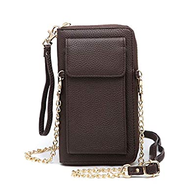 MMK Crossbody Phone Bags Wristlet Wallet Signature Cellphone Purses Shoulder Bags with Credit Card Slots for Women
